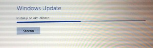 Progress bar aktualizace Windows 8