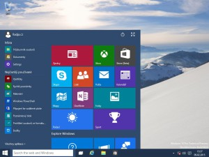 Windows 10 startovací menu
