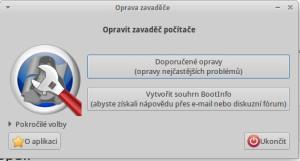 Aplikace Oprava zavaděče