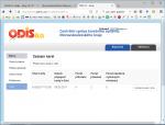 Seznam platebních karet v ODIS systému DPO