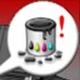 ikona, nádržka odpadního inkoustu je plná